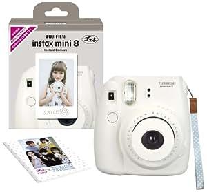 FUJIFILM インスタントカメラ チェキ instax mini 8 ホワイト INS MINI 8 WHITE N