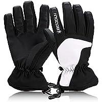Smiletop 防寒手袋 メンズ 防水 暖かい バイク、スキー、釣りなどに適用