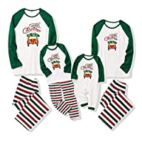 Christmas Family Matching Pajama Holiday Pjs Sets Cotton Sleepwear