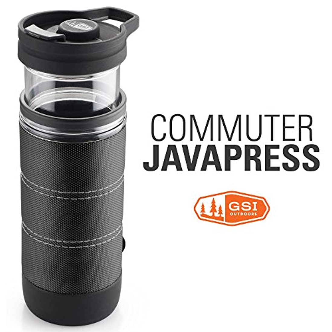 心配深く虹GSI OUTDOORS COMMUTER JAVA PRESS COFFEE MUG (GRAPHITE)