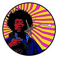 アイコニックなJimi Hendrixビニールレコード壁掛け時計