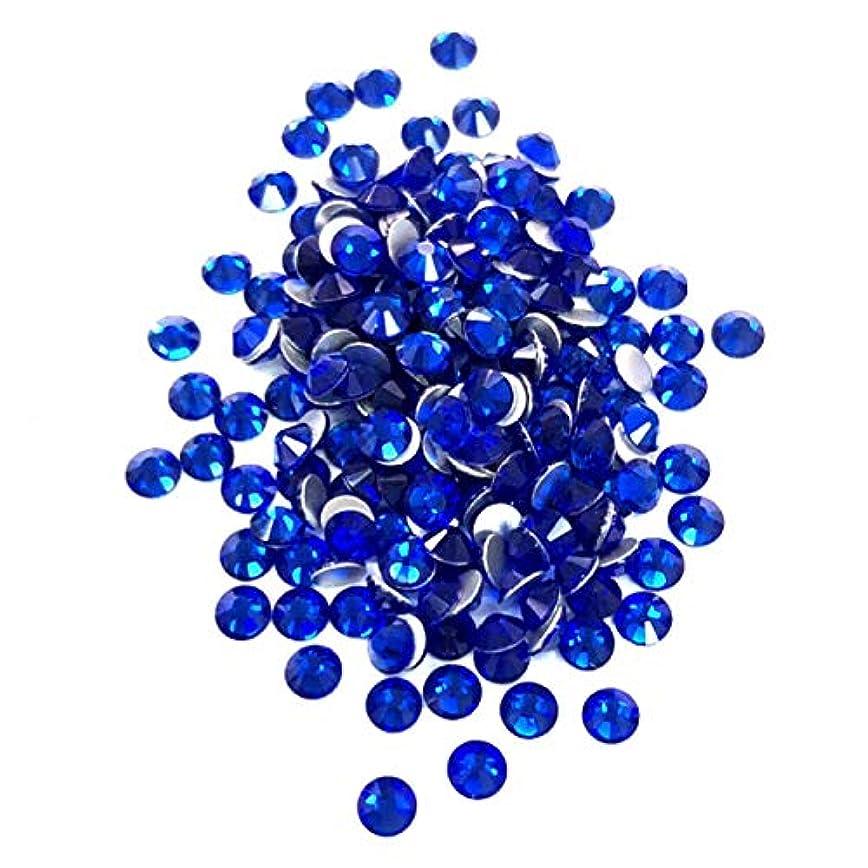 緩むロードハウス爬虫類【ネイルウーマン】最高品質ガラスストーン!スワロ同等の輝き! サファイア ブルー 青色 (約100粒入り) (SS8)