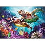 5D Diamond Painting Kit Full Drill, Diamond Art DIY Cross Stitch Mosaic Picture Artwork Home Decor Sea Turtle 40X30cm