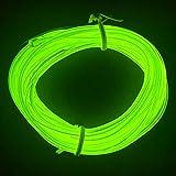 M.best 有機 ELワイヤーネオン 電池式 EL直径2.3mm 長さ3m トランスフォーマー付きELワイヤー 衣装 パーティー LED ライト 自転車 ライト 点灯・点滅機能 (蛍光グリーン)