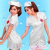 【5枚組】【値下げ】白の看護婦のナースコスプレ*コスチューム