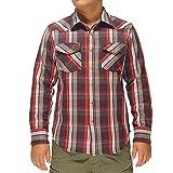 AVIREX[アヴィレックス] デイリー ウエスタン フラネル チェックシャツ/6165133--17ダークグレイ--M