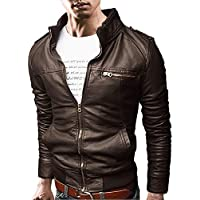 [Flapkash(フラップカッシュ)] スタンドカラー ライダース ジャケット 長袖 カジュアル アウター 春 秋 冬 メンズ
