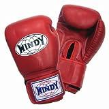 WINDY ボクシンググローブ 本革製 8オンス レッド