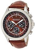 [ブルッキアーナ]BROOKIANA クロノグラフ 24時間計 腕時計 ブラウン×ブラウンレザー BA2304-SBRLBR メンズ 腕時計