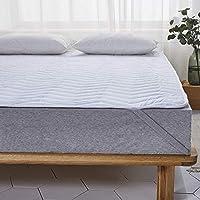 敷きパッド 綿100% 丸洗いOK ベッドパッド 四隅ズレ防止ゴムバンド付き 洗える ベッドシーツ (キング?180X200cm, ホワイト)