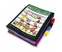 B。B。PAW水図面帳マジック水再利用可能なDoodleボードfor Kids 0–6年Old to Learn and開発アートability-sea。。。 ブラック Magic Book-Mix