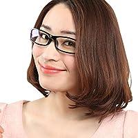R-STYLE ヘビーユーザーご用達 PCメガネ ブルーライト カット 眼精疲労低減に メガネケース付セット (ブラック)