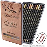 Dark Skin Colored Pencils   Portrait Pencil Set   Colored Pencil for adults   Skintone Artist Pencils