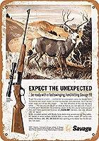 Shimaier 壁の装飾 ブリキ 看板メタルサイン 1963 Savage 99 Rifles ウォールアート バー カフェ 30×40cm ヴィンテージ風 メタルプレート