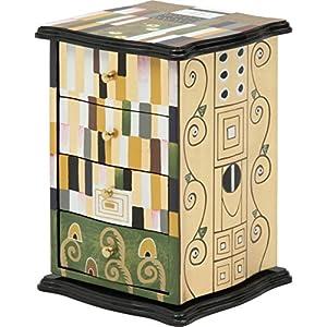 不二貿易 回転式 ジュエリー ボックス クリムトモザイク 57339