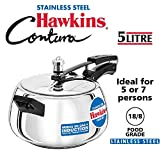 HAWKINS SSC50 PRESSURE COOKER, 5 Liter, Silver