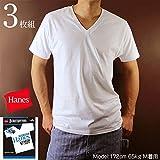 ◎ヘインズ(Hanes) 【3枚組】アオラベルVネックTシャツ 青パック HM2125G 010:ホワイト M