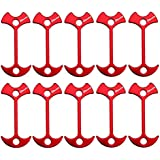 BONANA 10pcs Ultralight Aluminum Guyline Cord Adjuster for Tent Camping Hiking Outdoor Activities, 2.6'' Fishbone Shape Tent Awning Anchor for Gallery Road or Timber Deck
