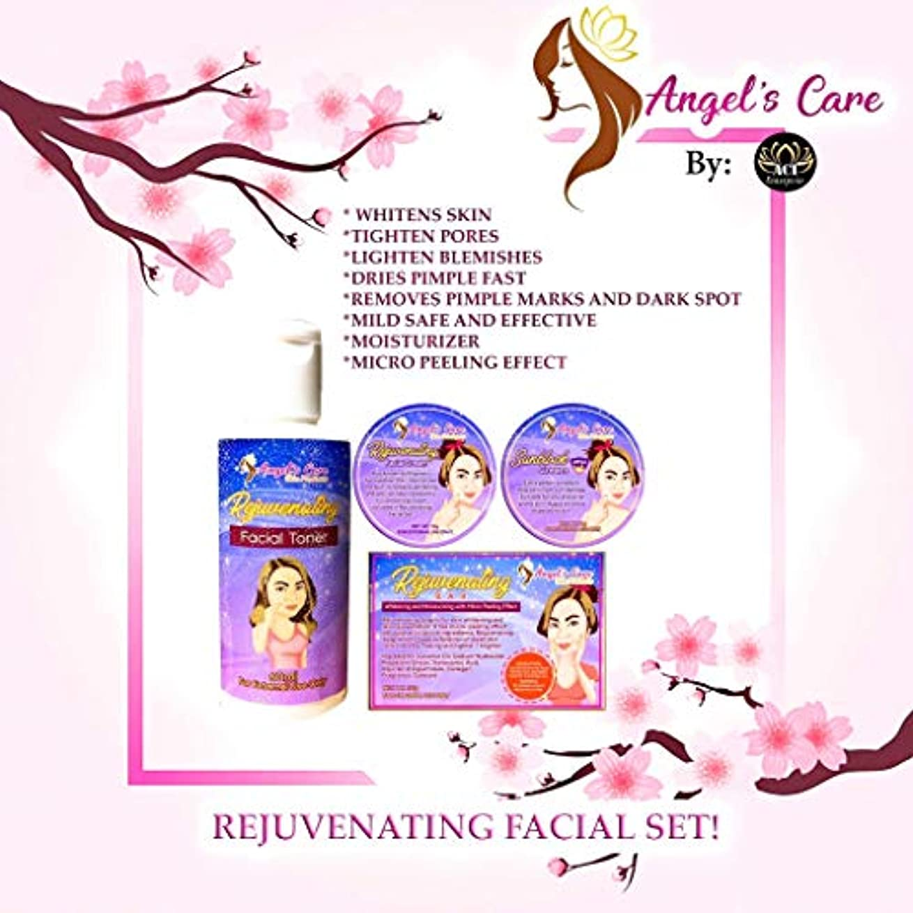 締め切り裸熱意Angel's Care Rejuvenating Facial Set (Mild)