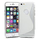Apple iPhone6 [ 4.7 inch ] TPU グリップカバーケース ( アイフォン iPhone 6 4.7 インチ 対応 ) 薄型軽量18g / 滑止め加工 / ソフトフィットモデル / 半透明クリア 【MY WAY 出品カラー全7色】 (iPhone6 ( 4.7inch ), Design S Clear (透明))