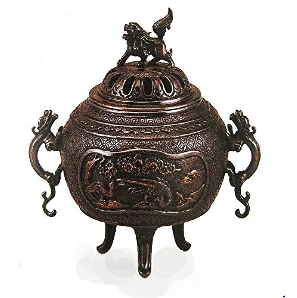 雨透明に尊敬する『花鳥香炉』銅製