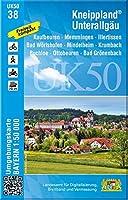 Kneippland Unterallgaeu 1 : 50 000 (UK50-38): Kaufbeuren, Memmingen, Illertissen, Bad Woerishofen, Mindelheim, Krumbach, Buchloe, Ottobeuren, Bad Groenenbach