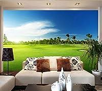 Gyqsouga カスタム壁紙3d写真壁画ゴルフ草風景壁紙リビングルームソファ背景壁紙-160X120CM