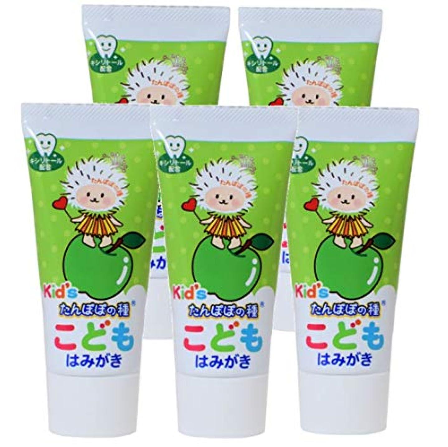 ギャラリー恩恵する必要があるたんぽぽの種 こどもはみがき 子供用歯磨き粉 こども用歯磨き粉 子供用ハミガキ (5本)