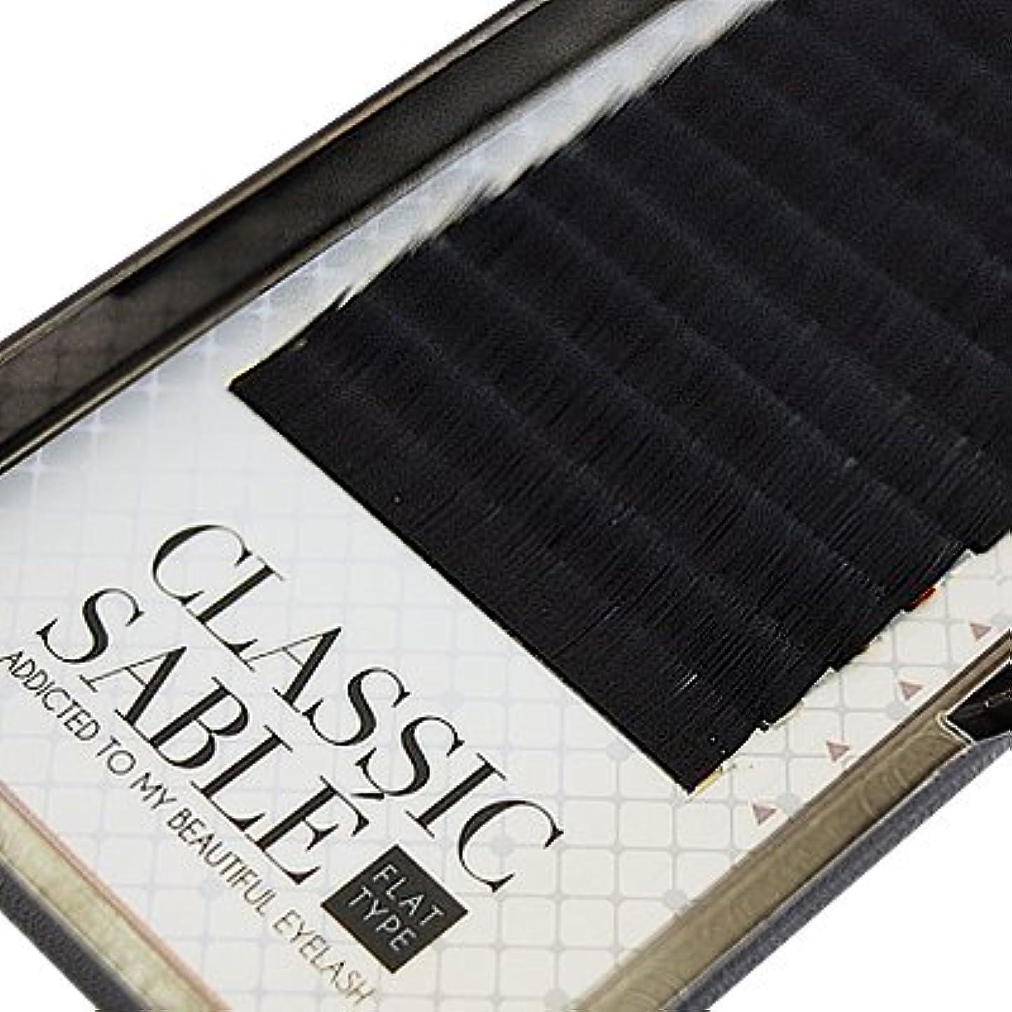 レディ子羊影のある【amass Bona】クラシックセーブル フラットタイプ Dカール 0.15mm×14mm