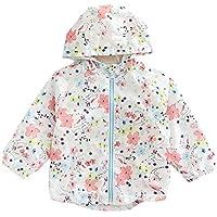 Candykids 赤ちゃんのウインドブレーカー長袖UVカットの日焼け防止パーカー冬服を守るために子供たちのトレンチコートのラッシュのための完璧な薄いキッズパーカーファッショナブルな女の子(120センチメートル) 120
