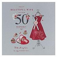 妻50th誕生日、誕生日グリーティングカード