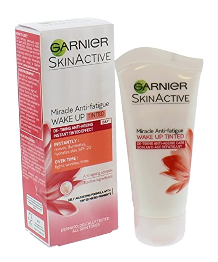 部急いで豆Garnier Skin Active Miracle Anti-Fatigue Wake Up Cream Tinted
