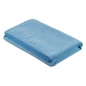 カーメイト 洗車用品 マイクロファイバー 車のバスタオル ブルー 600×1200mm C68