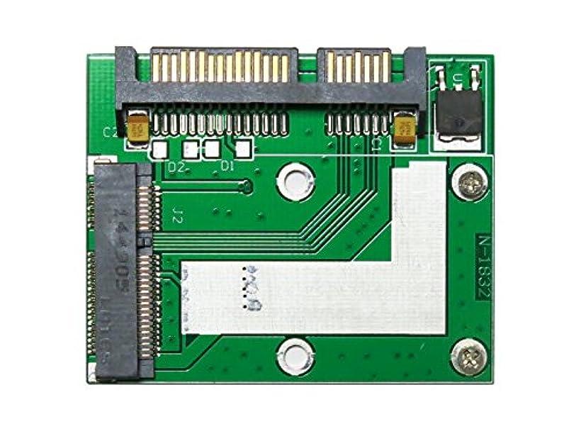 教養がある司法安息【相性保証付き】 mSATA SSD to ハーフスリム Half-Slim SATA SSD 変換アダプタ SAISEIYA AD01018