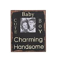 "Attractionデザイン"" Baby Cute Boy「。。。木製Chunkyフレーム"