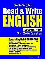 Preston Lee's Read & Write English Lesson 1 - 40 For Urdu Speakers