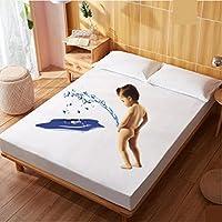 コットン 1.8 m 防水ベッドカバー,尿通気性機械洗える保護カバー一枚マットレス防塵カバー-G 200*220cm