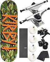 "Deathwish Skateboards Gang Nameスケートボード8"" x 31.5"" Complete Skateboard–7項目のバンドル"
