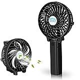 VersionTek usb扇風機 卓上ミニファン 携帯扇風機 電池/usb給電 3段階風量調節 コードレス 黒