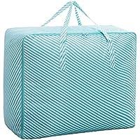 ジッパー掛け布団付き収納袋大容量仕上げブルーストライプ (サイズ さいず : B)