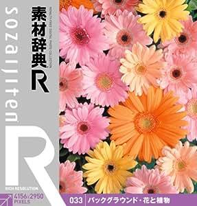 素材辞典[R(アール)] 033 バックグラウンド・花と植物