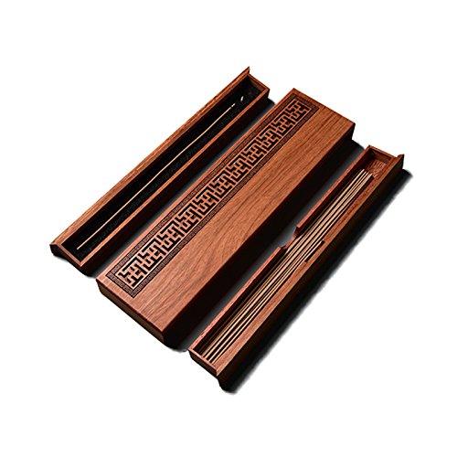 [해외]향로 자기 향 접시 가로 향로 모과 나무 (카린) 향 수납 가능 불단 袈印堂 [병행 수입품]/Incense incense dish layered incense dish horizontal layered incense incense furnace flower pear (karin) incense stone can be stored Buddhist altar...