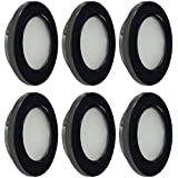 Dream Lighting RV LED Recessed Down Light 2W Warm White Black Shell Pack of 6