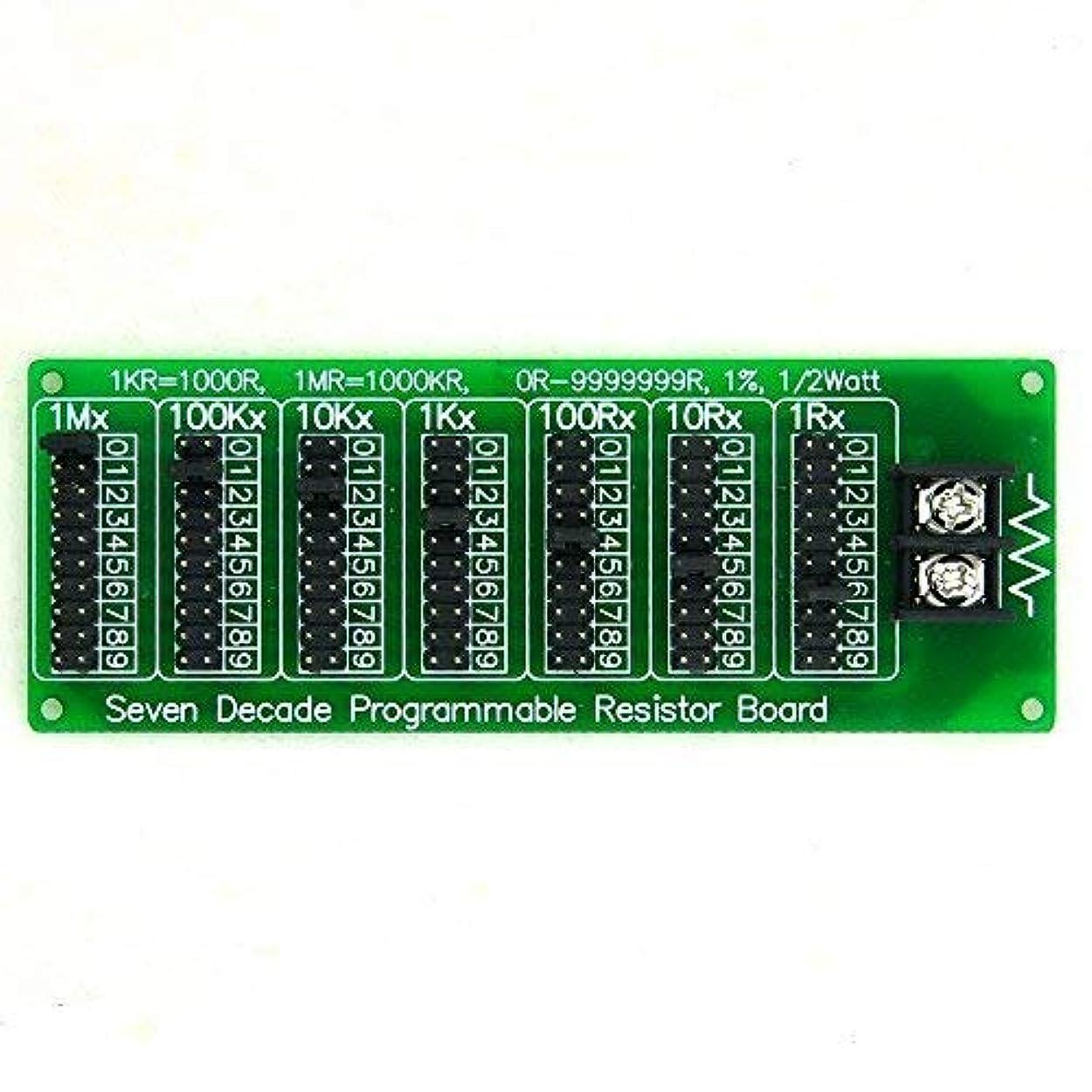 毒性甥アークElectronics-Salon 1R - 9999999r 7十年 プログラマブル抵抗基板 ステップ1R 1%1/2ワット