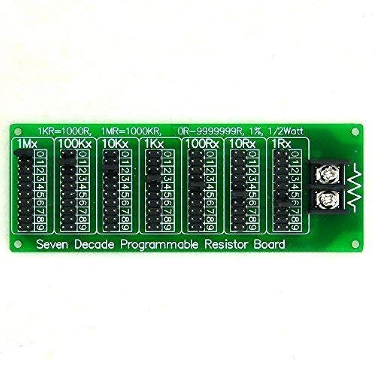 牧草地割り込みテスピアンElectronics-Salon 1R - 9999999r 7十年 プログラマブル抵抗基板 ステップ1R 1%1/2ワット