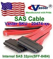 コンピュータ SAS ケーブル SAS 32P - 32P データケーブル (内部 SAS 32 ピン SFF 8484) 20インチ 3個 / パック