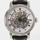 腕時計 エモーション スケルトン レザー ブラック/ホワイト ブルーローマン 3390SKRWH メンズ エポス画像②