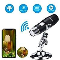 Wifiデジタル顕微鏡、1000xハンドヘルド拡大内視鏡8 LEDポケットUSBミニズーム顕微鏡内視鏡iPhone IOS Android Phone ipadタブレットPC用