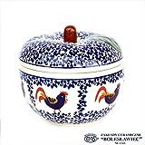 [Zakłady Ceramiczne Boleslawiec/ザクワディ ボレスワヴィエツ陶器]リンゴのポット12.5cm-1090 (ポーリッシュポタリー)