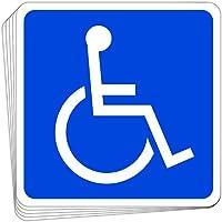 【アウトレット品】身障者用設備(車イス) 高耐候性マグネットステッカー 反射タイプ 国際シンボルマーク 100X100m…